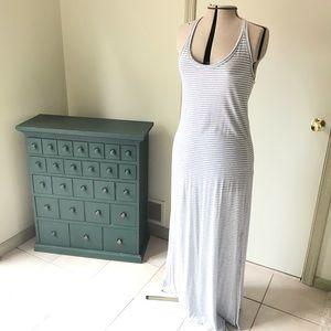 Maxi Dress White & gray striped